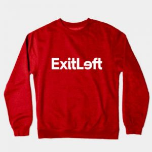 Exitleft red Crewneck Sweatshirt