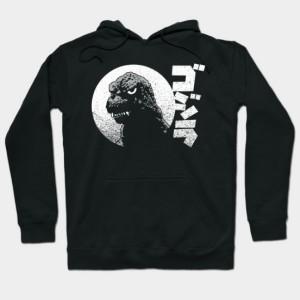 Godzilla- Grunge motif Hoodie