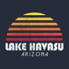 Lake Havasu Retro Vintage Style Distressed Sunset T Shirt