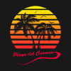 Playa del Carmen 80s Sunset T Shirt