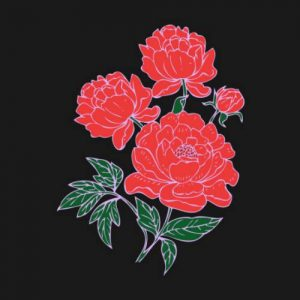 Red Peonies Crewneck Sweatshirt