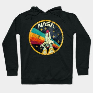 USA Space Agency Vintage Colors V03 Hoodie