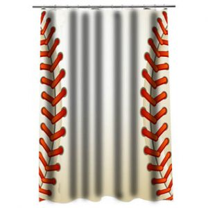 Baseball Texture Ball Shower Curtain