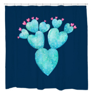 Desert Hearts Shower Shower Curtain