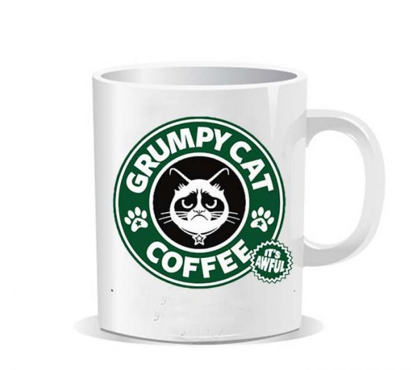 Grumpy cat starbucks Ceramic Mug
