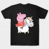 Unicorn and peppa pig T Shirt