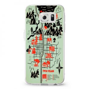 Welcome to Twin Peaks Map Cover Design Cases iPhone, iPod, Samsung Galaxy