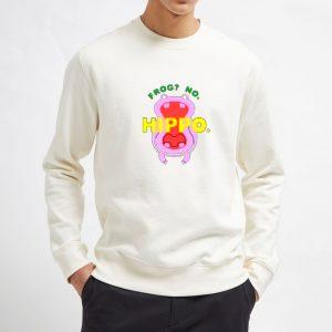 Frog-No-Hippo-White-Sweatshirt-Unisex-Adult-Size-S-3XL